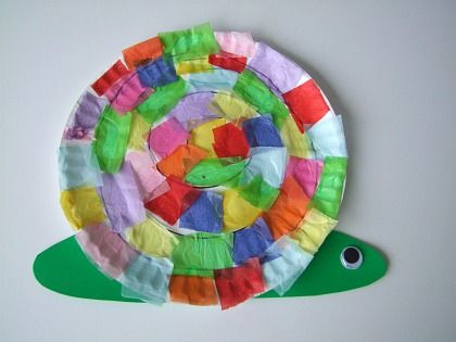 Paper Plate Snail Craft Preschool Education For Kids